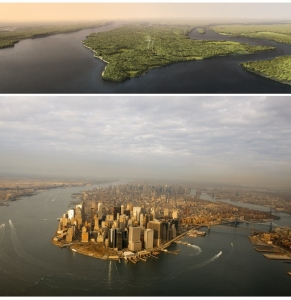 The legacy of Manhattan Island (1609 vs 2009) - National Geographic